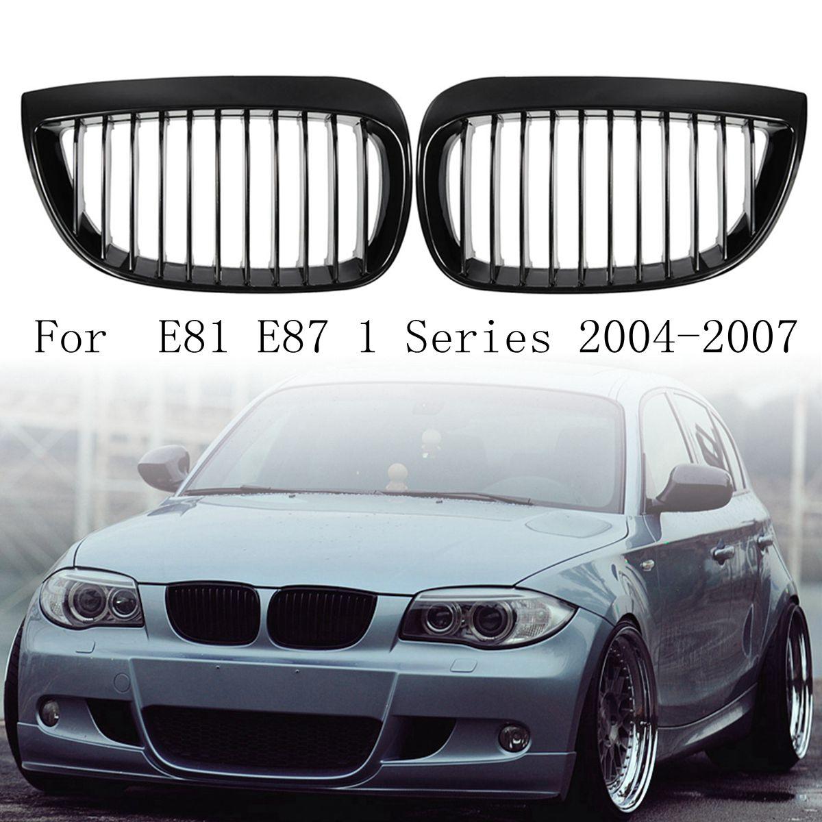 for BMW E87 E81 1 Series 2004 2007 Pair Left & Right Car Front Sport Kidney Grill Grilles Matt Black