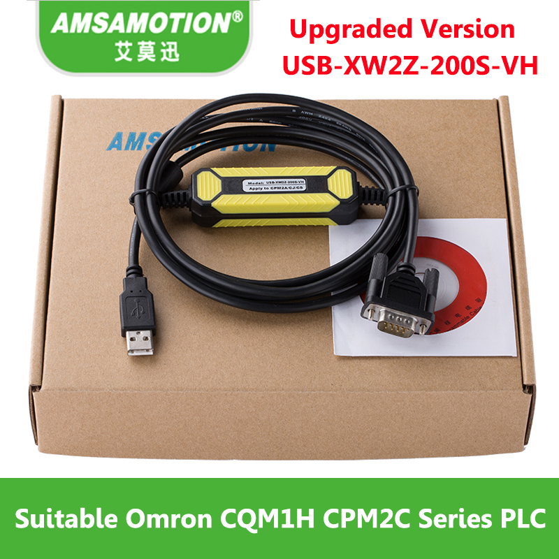 цена на Amsamotion USB-XW2Z-200S-VH Suitable USB Port Omron CQM1H CPM2C Series PLC Programming Cable