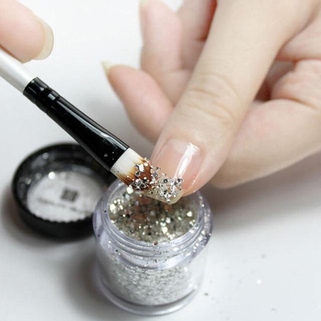 10g Glitter Nail Powder Silver Glitter Acrylic Powder Dust Nail Art