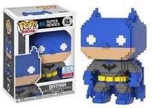 2017 NYCC Exclusive Funko pop Official 8-Bit DC Heroes Batman #01 Vinyl Action Figure Collectible Model Toy