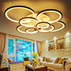 LED Circle Modern Chandelier Rings White Finished Chandeliers Lights For Living Room Acrylic Lampara De Techo