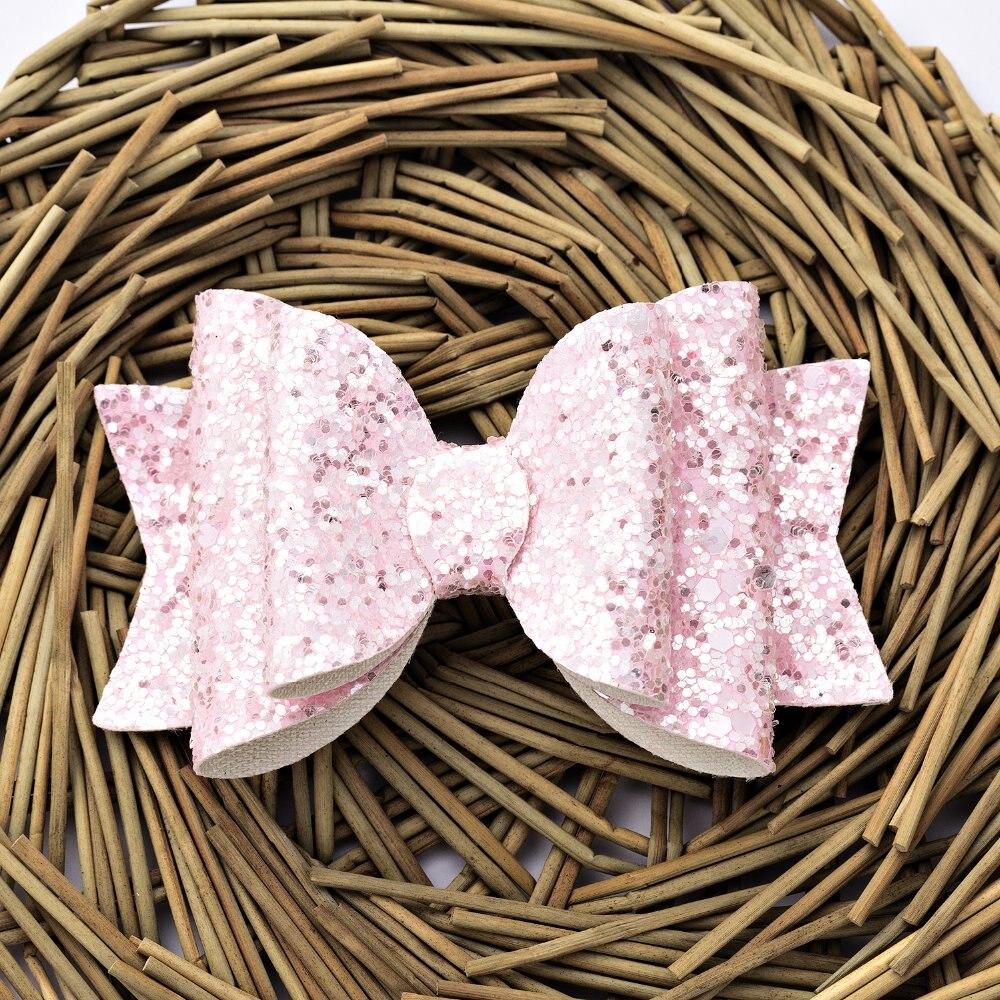 Thumblina Shinny Glitter Bow Hair Clip For Women Girls Hairpin Children Kids Barrettes Hair Accessories