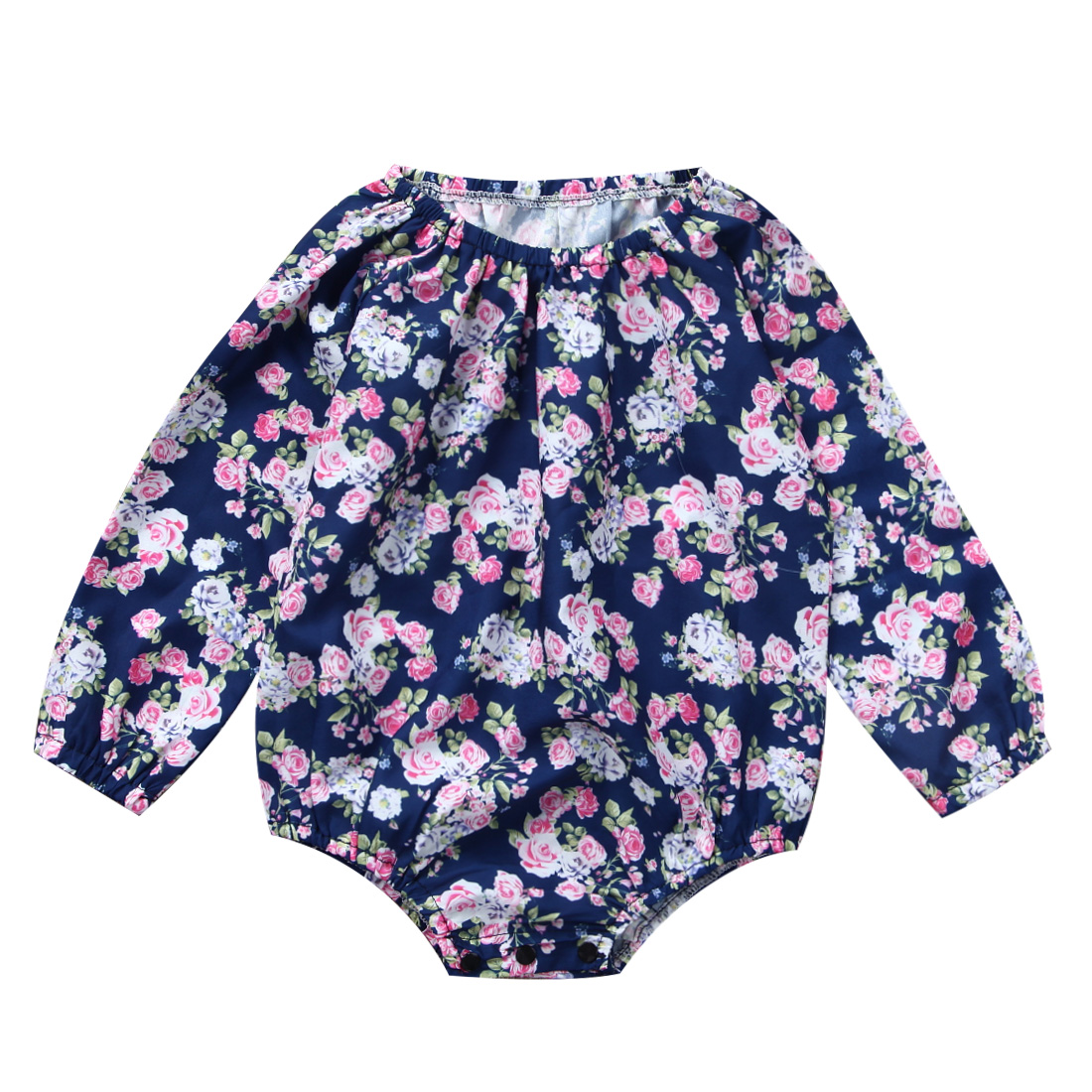 Flower Girl Romper Newborn Baby Girls Clothes Flower Long sleeves Romper Jumpsuit Outfits Sunsuit Clothing Lots 0-2Y
