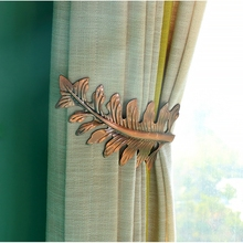 Simple Retro Classic Novel Fashionable Foliage Wall Hook For Curtain Home Curtain Accessories 2 Pieces U-shaped Hooks DF091-40