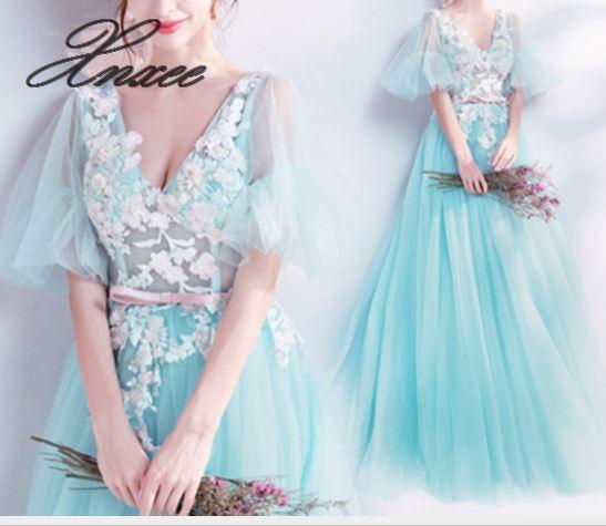 2019 جديد السيدات أنيقة فستان شبكي-في فساتين من ملابس نسائية على  مجموعة 1