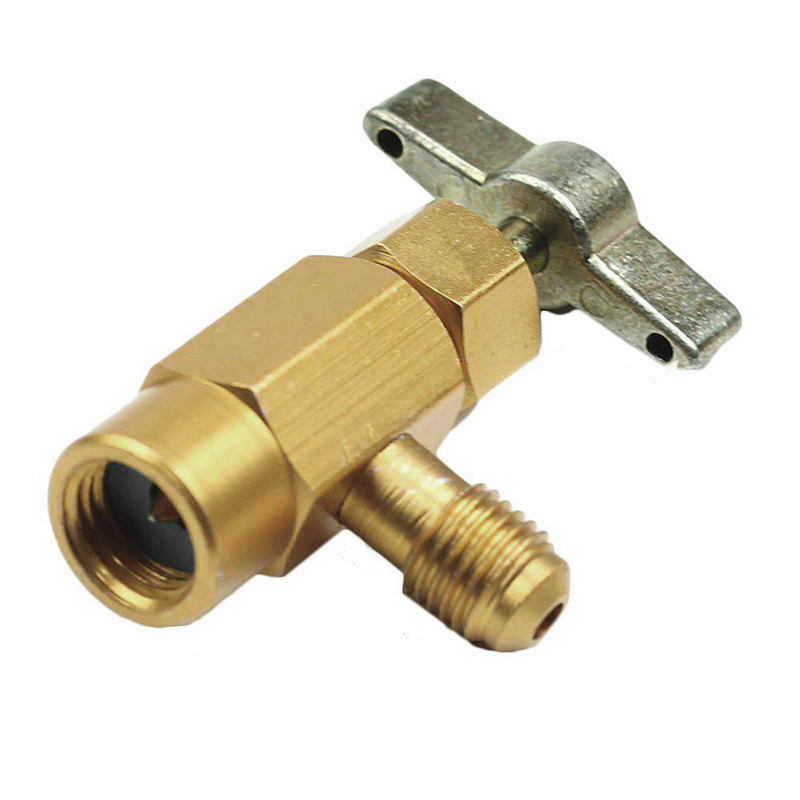 """Brass R134A Auto A/C Refrigerant Can Tap Valve Bottle Opener Adapter 1/4"""" SAE-in Air-conditioning Installation from Automobiles & Motorcycles"""
