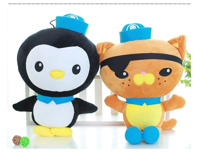 40cm Height Stuffed Octonauts Toy Baby Kids Plush Toys Dolls 3 Styles Cute Cartoon Juguetes