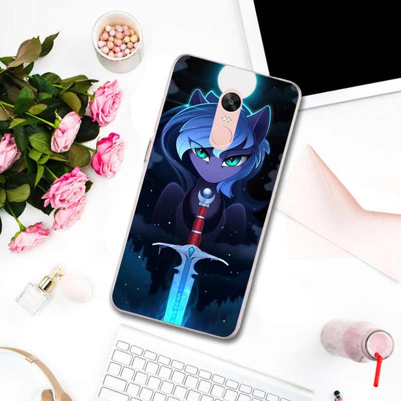 С рисунком из мультфильма «Мой Маленький Пони» дружбы мягкие чехлы для телефона из термополиуретана и силикона для Xiaomi mi Red mi Note 3 3 S 4 4X 4A 5 5S 5A 6 6X 6A 8 A1 Pro Plus Max 2
