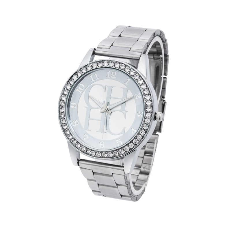 Zegarek-montre à Quartz pour femmes, marque de luxe, entièrement en acier, doré, cristal, style ours, numérique, collection offre spéciale