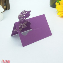 50pcs Business Card Wedding Celebration Birthday Party Tables Chairs Decorative Hollow Seat 5ZZ27