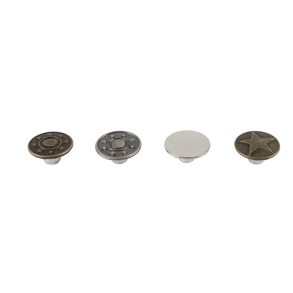YHYS Jeans Button 40 pcs Metal Tack Buttons Replacement Kit Repair For Sewing Pants