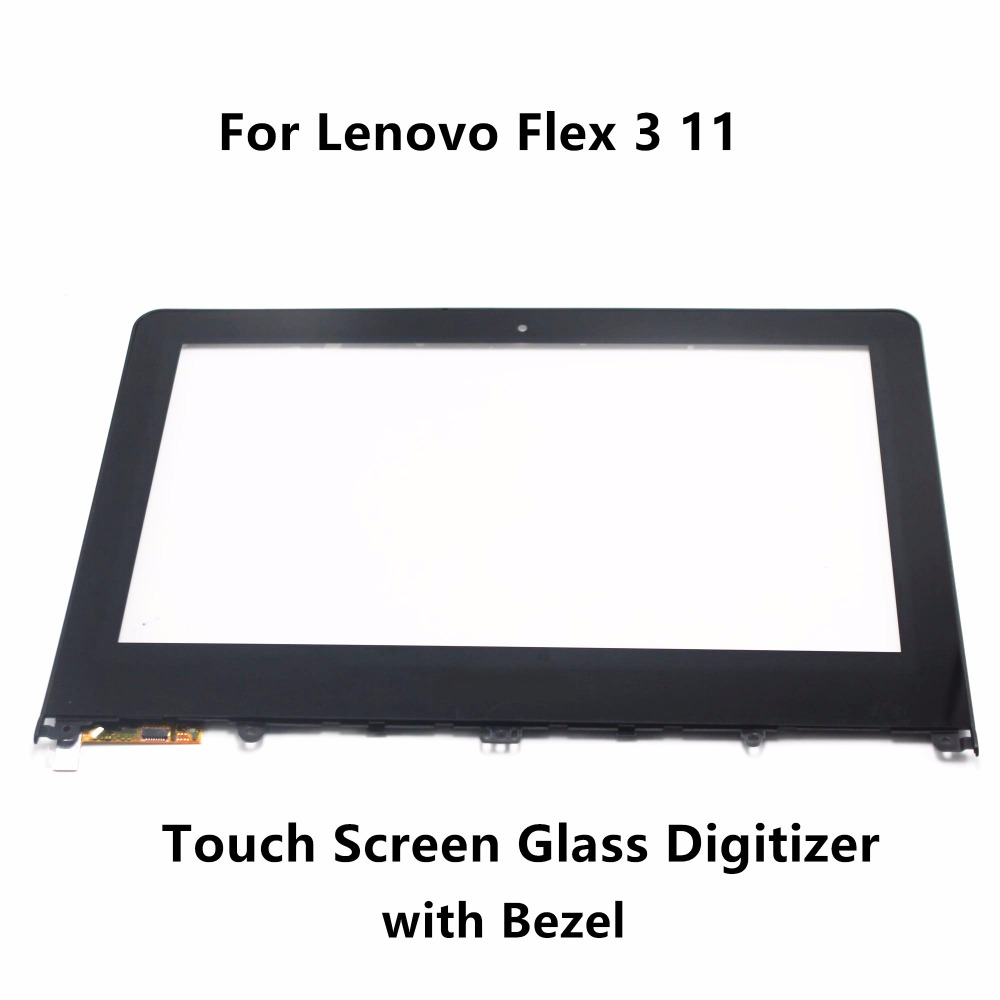 11.6 For Lenovo Flex 3 11 80LX001FUS 80LX0008US 80LX0026US Laptop Touch Panel Screen Digitizer Glass Sensor Replacement + Bezel 14 for lenovo flex 2 14 80fj 80gs 20404 20432 front outter touch screen panel digitizer glass lens sensor replacement bezel