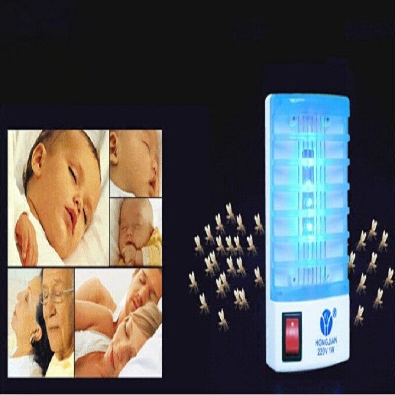 Hot Selling Mosquito Killer LED Mini Sensor Night Light 220V 1W Range Pest Bug Reject Mole