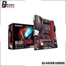 Gigabyte GA B450M GAMING(rev. 1,0) AMD B450/2-DDR4 DIMM/M.2/USB3.1/Micro-ATX/New/Max-32G двухканальная материнская плата AM4