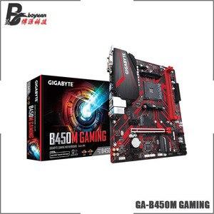 Image 2 - جيجا بايت غا B450M الألعاب (rev. 1.0) AMD B450 /2 DDR4 DIMM /M.2 /USB3.1 /Micro ATX/جديد/Max 32G مزدوج قناة AM4 اللوحة الأم