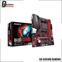 Gigabyte GA B450M oyun (rev. 1.0) AMD B450 /2-DDR4 DIMM /M.2 /USB3.1/mikro ATX/yeni/Max-32G çift kanallı AM4 anakart