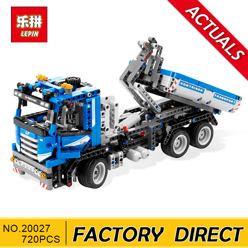 Lepin 20027 720Pcs Technic Mechnical Series The Container Truck Set Children Educational Building Blocks Bricks Toys Model 8052 720pcs techinic 2in1 motorized container