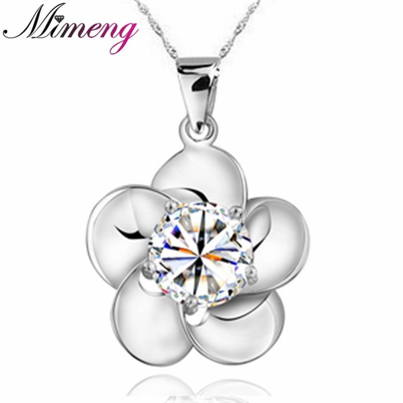 d534b909b36a AAA 100% plata 925 collar de plata esterlina joyería flor Collares y  colgantes Joyería fina calidad superior!
