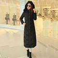 Top Quality Womens Down Jackets 2016 New Fashion Women Parka Winter Jacket Women White Duck Down X-Long Thick Large Size Hooded
