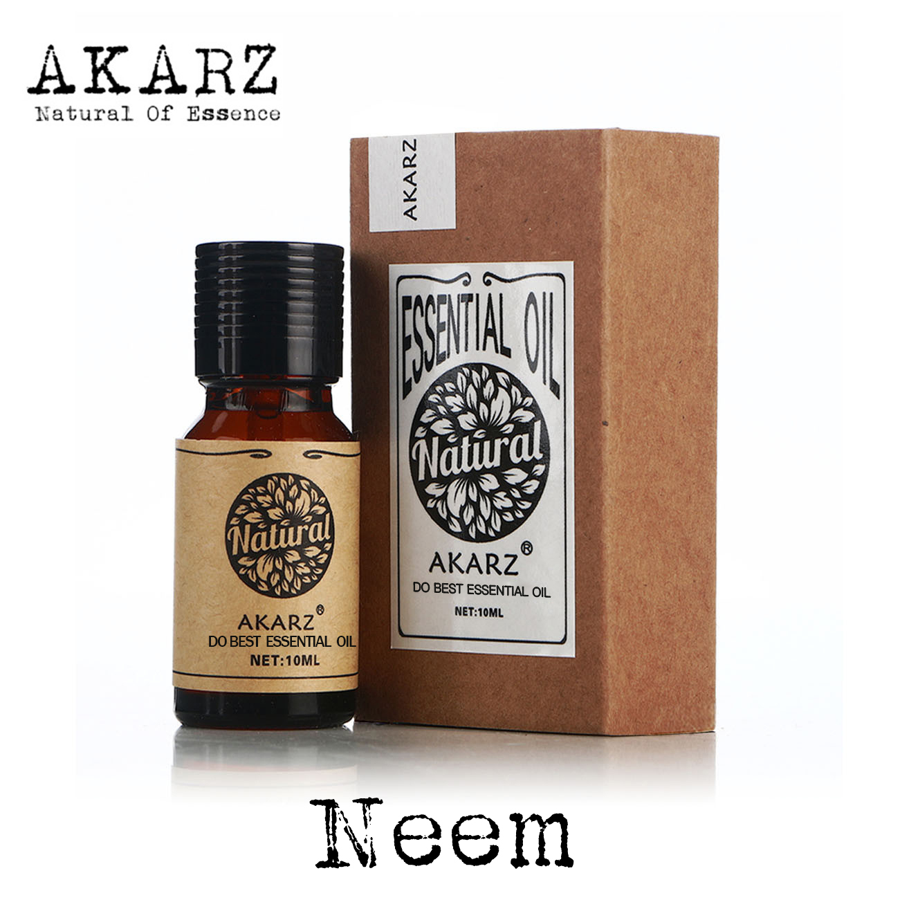 AKARZ известный бренд Натуральное эфирное масло Neem инсектицидная дезинфекция ингибирует рост насекомых вредителей Neem масло