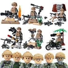 Pessoas Pensam Que a guerra soldado das forças especiais corps Comando compatível legoinglys Militar Blocos de Construção do modelo brinquedos para presente de crianças