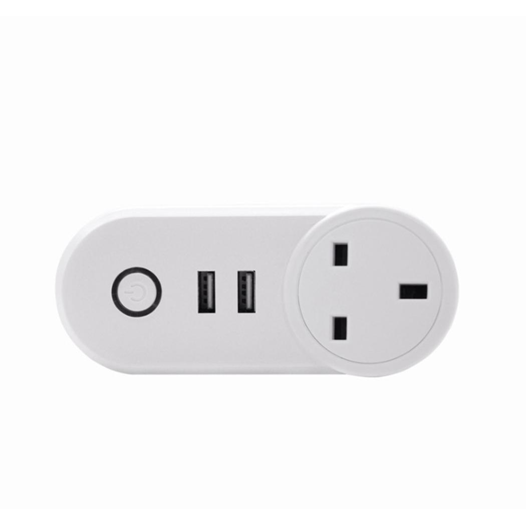 Smart WIFI Remote Control Timing App Voice control, easy operation Socket 2A Home EU/UK/US Square Plug Socket