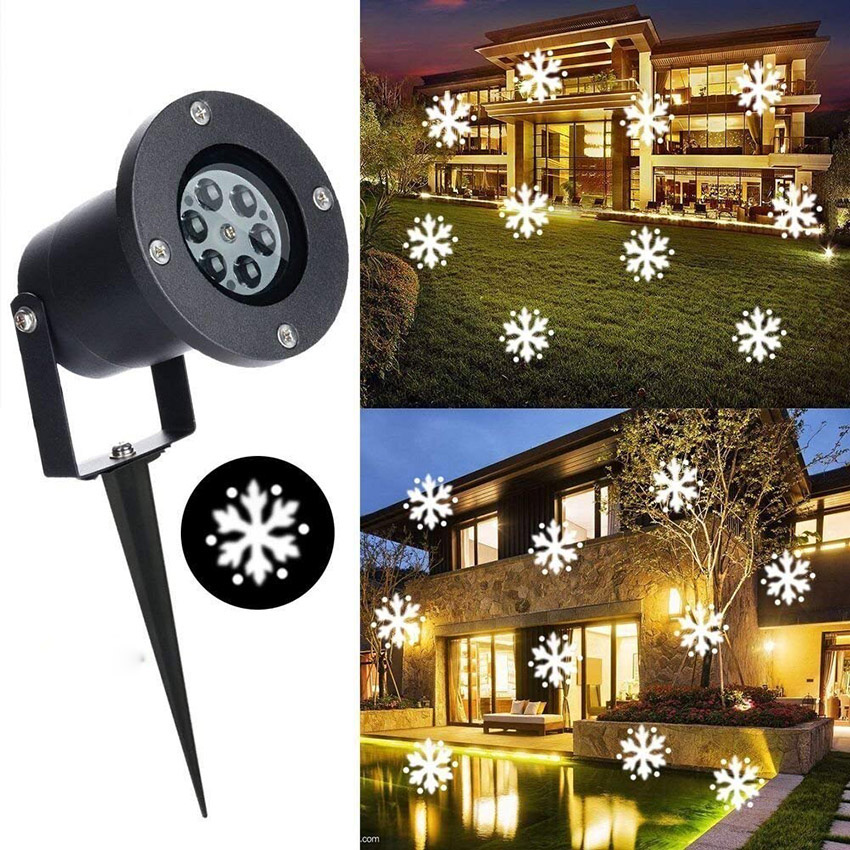 Outdoor Christmas Snowflake Laser Projector Lamps LED Stage Lights Halloween Garden Lawn Landscape LED Projection Lighting Outdoor Christmas Snowflake Laser Projector Lamps LED Stage Lights Halloween Garden Lawn Landscape LED Projection Lighting