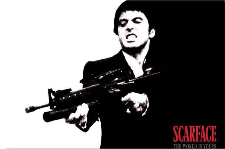 Popular scarface posters buy cheap scarface posters lots - Scarface cartoon wallpaper ...