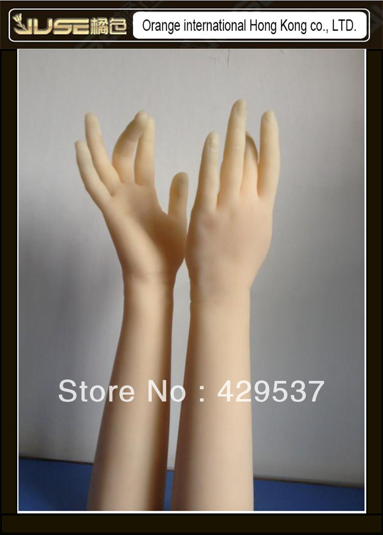 40cm Lifelike Nice Female Hands for Display Solid Silicone Female Hands Sexy Woman Hands JSH 001