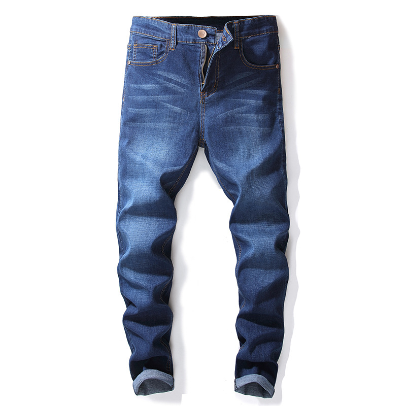 2018 Newly Vintage Designer Mens Jeans High Quality Retro Simple Cotton Pants Classical Jeans Men Big Size 28-42 Straight Jeans