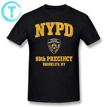 Brooklyn Nine T Shirt 99th Precinct NY T-Shirt Short-Sleeve 100 Cotton Tee Oversize Men Print Casual Tshirt