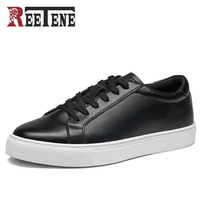 REETENE 2017 New Arrival Men'S Casual Shoes Spring Fall Leather Men'S Shoes Men Flat Chaussure Homme Men Shoes Zapatos Hombre