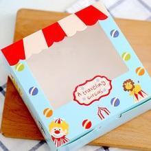 Цирковая труппа прозрачное украшение торт печенье на десерт коробка хлебобулочная упаковка коробки Сувениры поставка