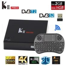 [Auténtica] KII Pro Tv Box DVB-T2 DVB T2 + S2 S905 Amlogic de Cuatro núcleos 2 GB/16 GB del Androide 5.1 Tv Box Bluetooth 2.4G/5G Wifi Set Top caja