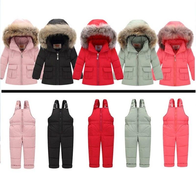 687d84292c39 Russian Winter Snowsuits 2018 Baby Boy Winter Children Girls Duck ...