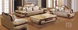 بين باج كرسي أوروبا نمط أريكة لأثاث المنزل مجموعة أعلى درجة بقرة حقيقية الجلود أريكة لغرفة المعيشة مع الصلبة المطاط نحت