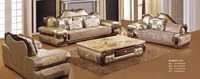 Beanbag Armchair Europe Style Home Furniture Sofa Set Top Grade Cow Genuine Leather Living Room Sofas With Solid Rubber Carving