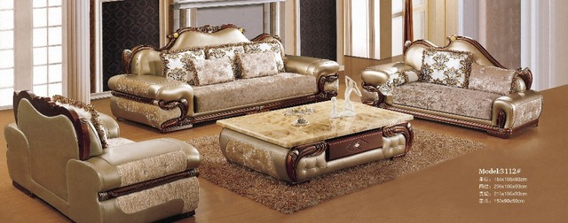 Beanbag Armchair Europe Style Home Furniture Sofa Set Top Grade Cow ...