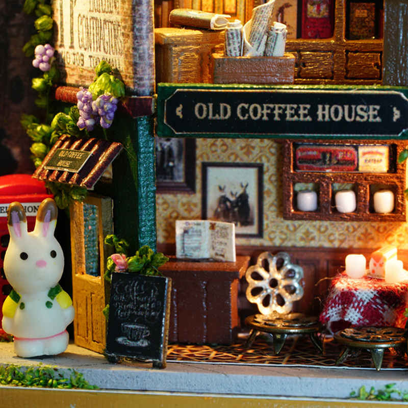 Meubles bricolage maison de poupée Wodden Miniatura maisons de - Poupées et accessoires - Photo 5