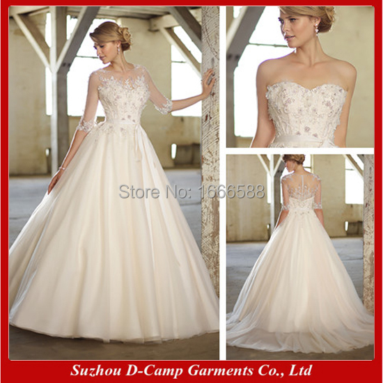 Free Shipping Wd 1649 Latest Design Detachable 2 In 1 Wedding Ebay