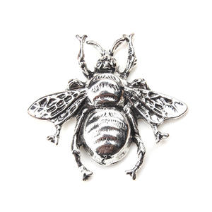 2pc/lot bee jewelry antique silver large size DIY charm pendant necklace jewelry accessories production 38mm x 40mm Pendant