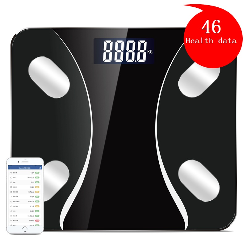 Bluetooth Body Fat Scale Smart BMI Digital Bathroom Wireless Weight Floor Scale Body Composition Analyzer with Smartphone App 2 in 1 digital pedometer with fat analyzer