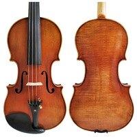 Free Shipping Copy Stradivarius 1716 100% Handmade Oil Varnish Violin + Carbon Fiber Bow Foam Case FPVN04 #9