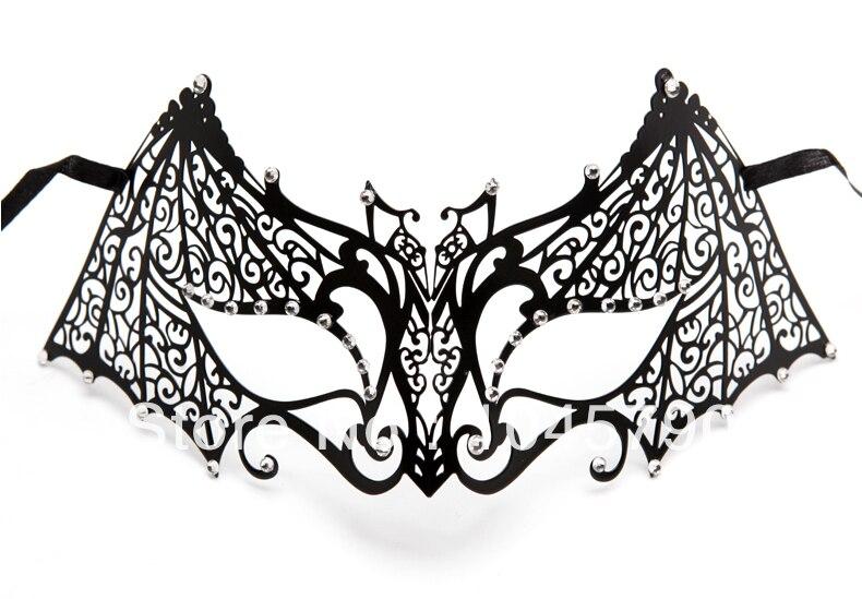 Envío gratis 1X Bat Man Mask Design Venetian Metallic Laser Cut - Para fiestas y celebraciones