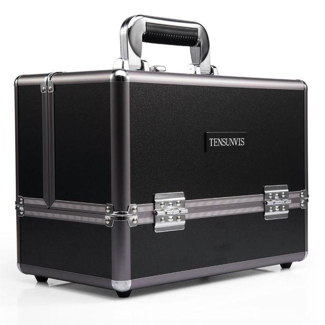 Hot Sale Professional Aluminum Alloy Makeup Box Makeup Case Salon Beautician tiers Lockable Bag
