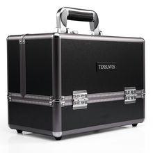 Hot Sale Professional Aluminium alloy Make up Box Makeup Case Beauty Case Cosmetic Bag Multi Tiers Lockable Jewelry Box