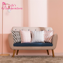 LUCIA Embroidery Cushion Cover Nordic Pink Floral Pattern Cotton Plain Pillow Case Decorative Pillow Cover For Sofa Bedroom цены