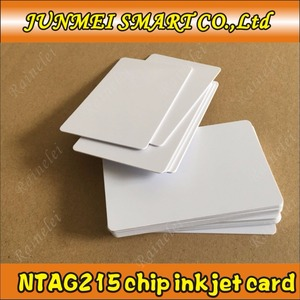 Image 3 - קניות חינם 100 pcs/500 pcs 13.56 Mhz הזרקת דיו להדפסה PVC IC כרטיס nfc 215 כרטיס עבור Tagmo עבור espon מדפסת, canon מדפסת