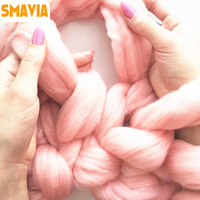 SMAVIA 1000g Ball Super Thick Knitted Yarn Warm Roving Hand Knitting Yarn For DIY Blankets Cover