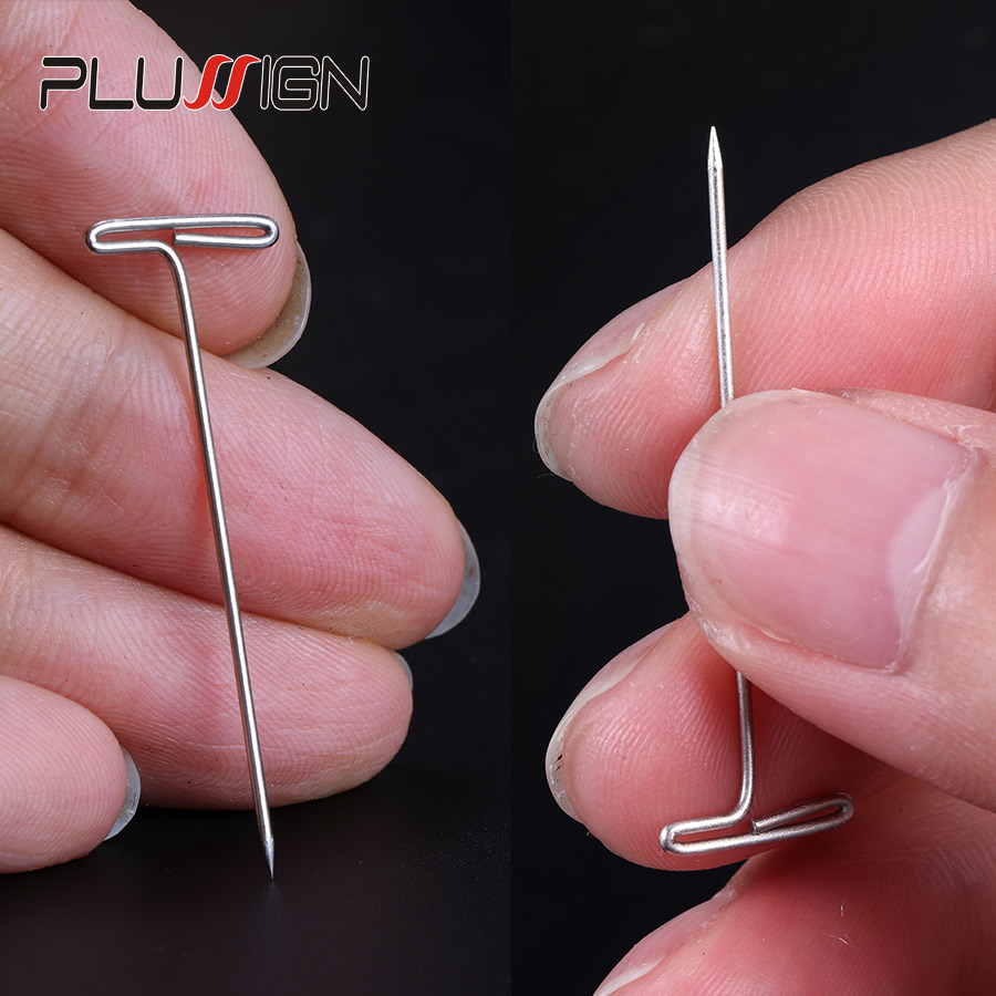 Plussign Wig T Pins 1.5 Inch For Holding Wigs Hair Extender Wig Making Blocking Knitting Modelling And Crafts 50Pcs T-Pins